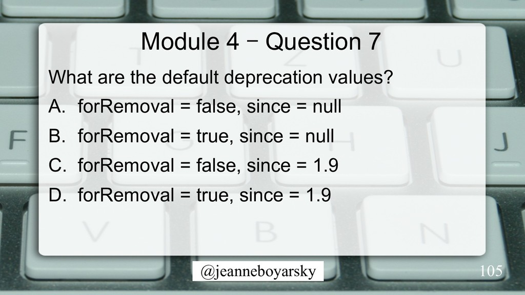 @jeanneboyarsky Module 4 – Question 7 What are ...