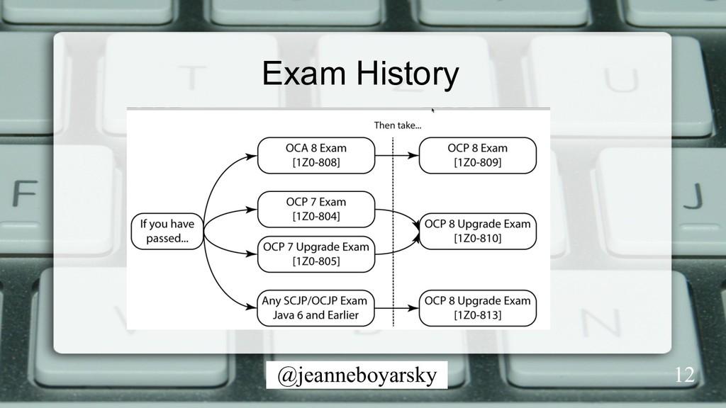 @jeanneboyarsky Exam History 12