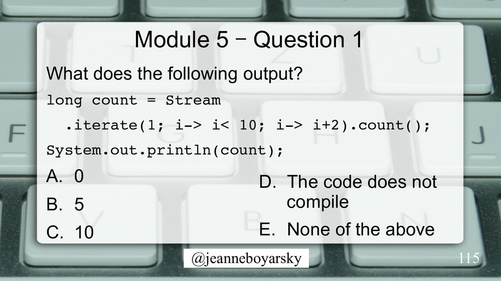 @jeanneboyarsky Module 5 – Question 1 What does...
