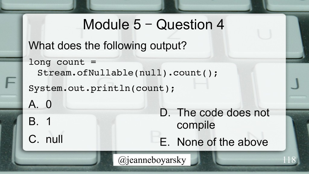 @jeanneboyarsky Module 5 – Question 4 What does...