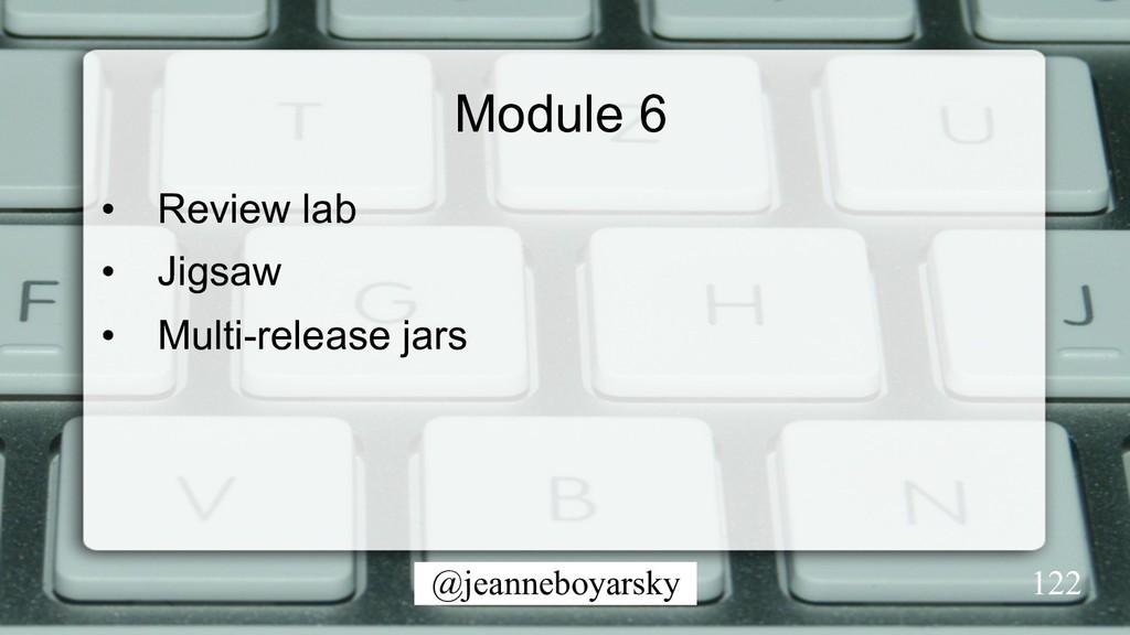 @jeanneboyarsky Module 6 • Review lab • Jigsa...