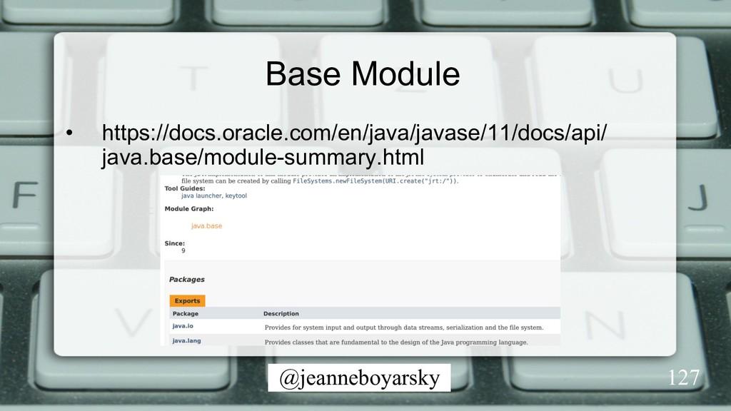 @jeanneboyarsky Base Module • https://docs.ora...