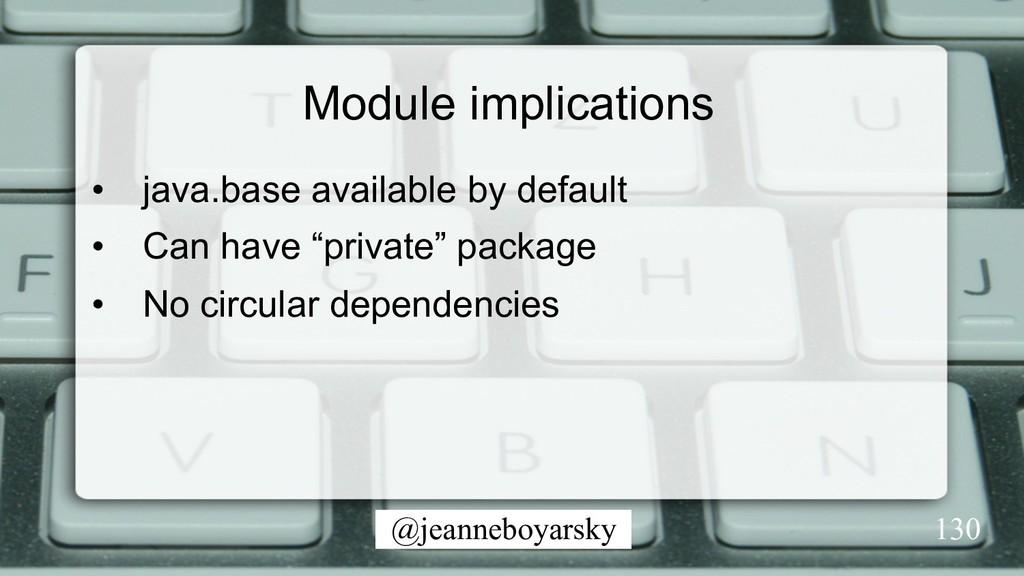@jeanneboyarsky Module implications • java.bas...