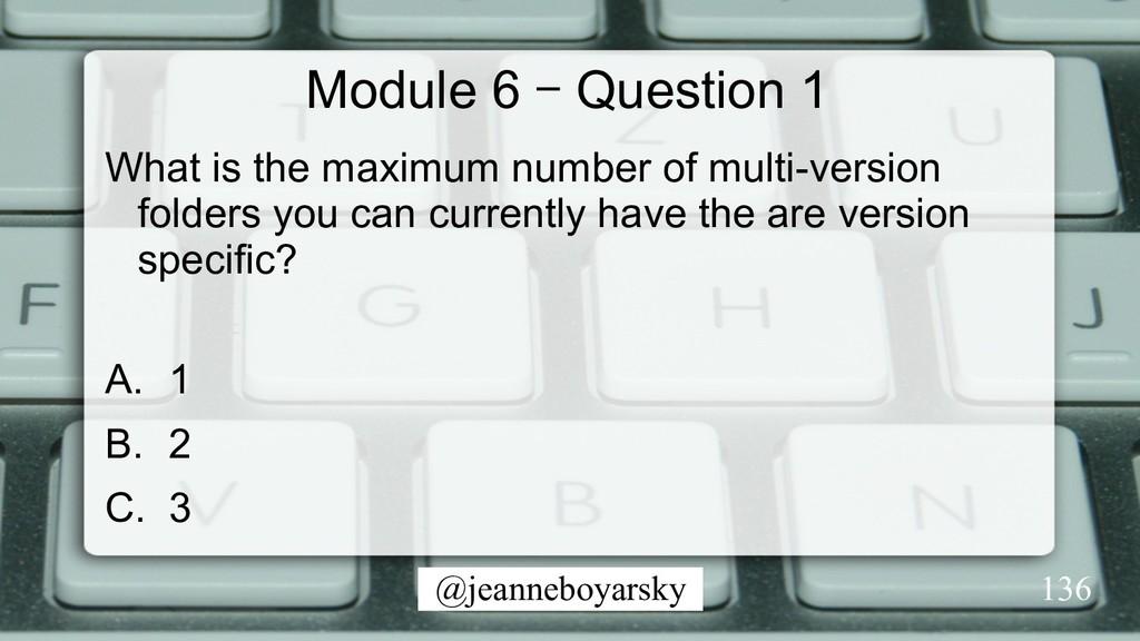 @jeanneboyarsky Module 6 – Question 1 What is t...