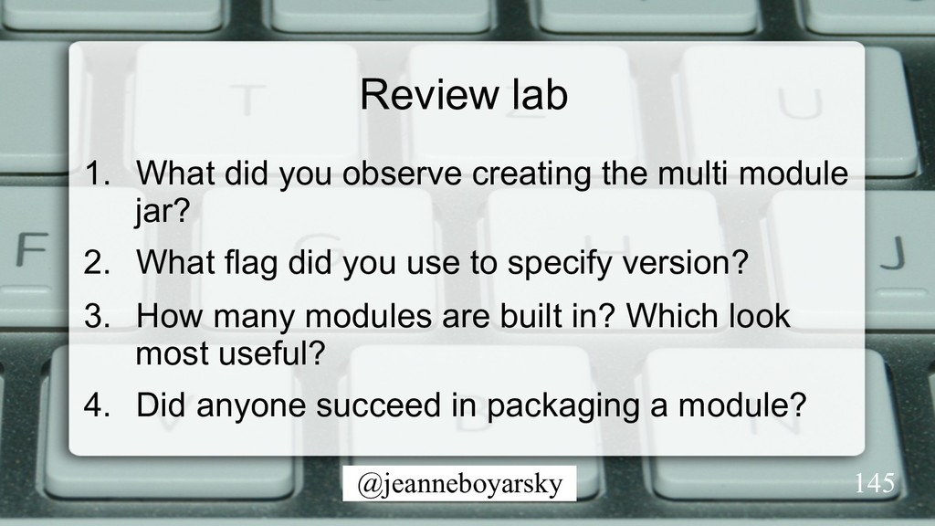 @jeanneboyarsky Review lab 1.  What did you obs...