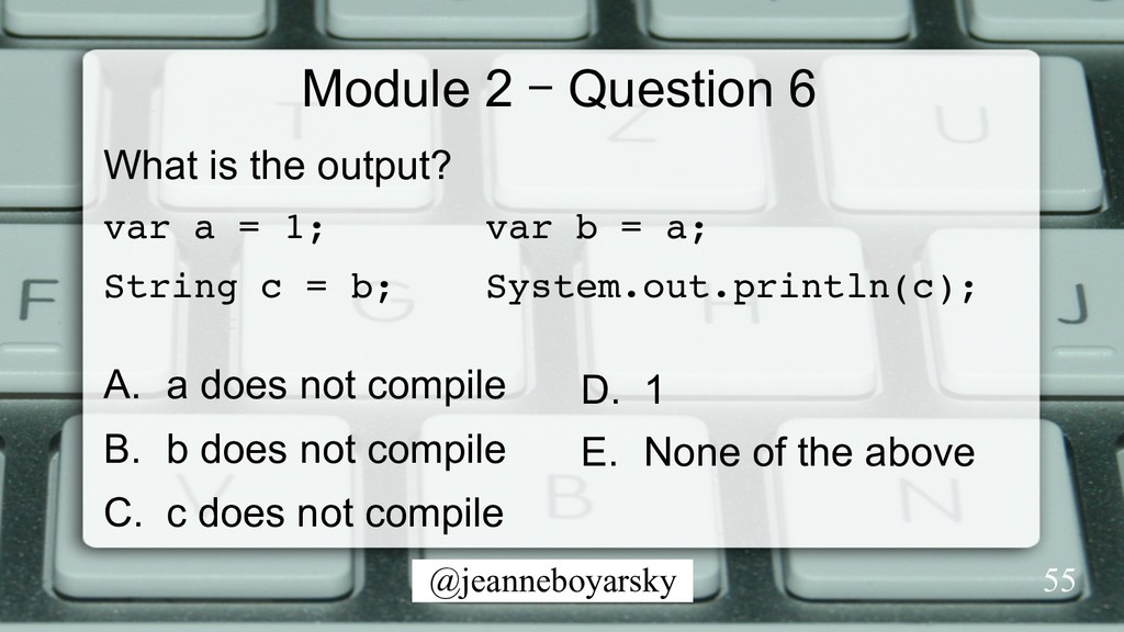 @jeanneboyarsky Module 2 – Question 6 What is t...