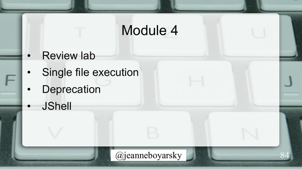 @jeanneboyarsky Module 4 • Review lab • Singl...