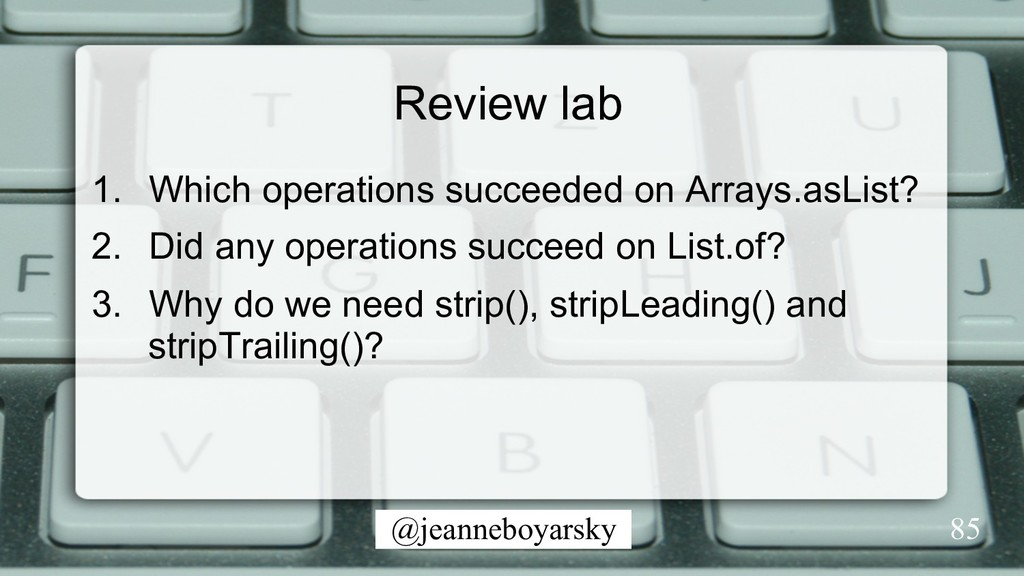 @jeanneboyarsky Review lab 1.  Which operations...
