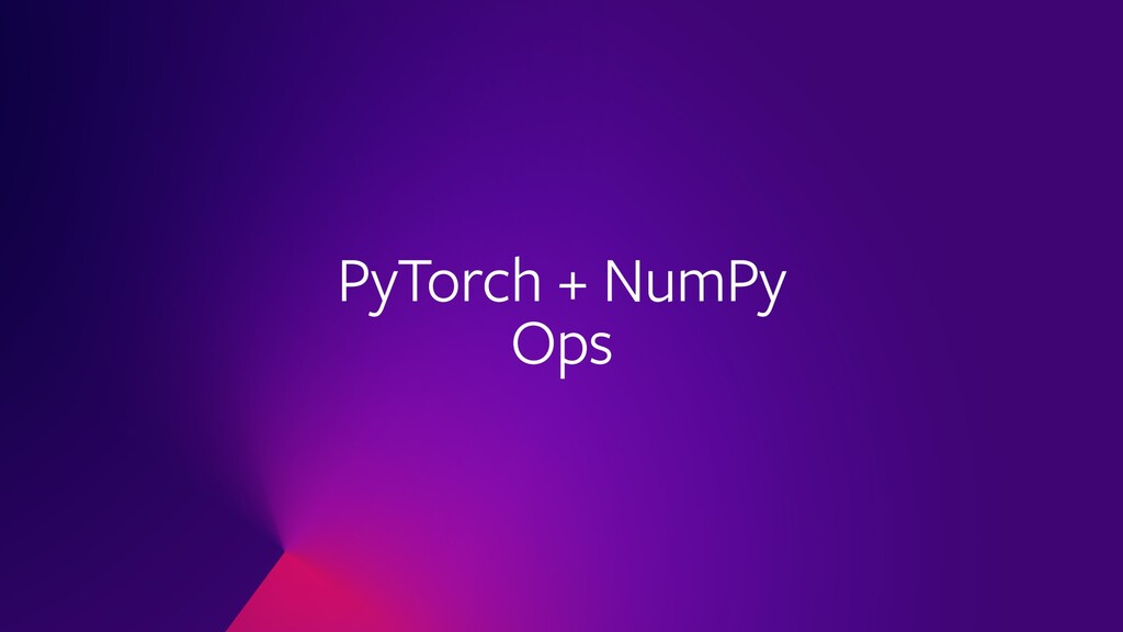 PyTorch + NumPy Ops