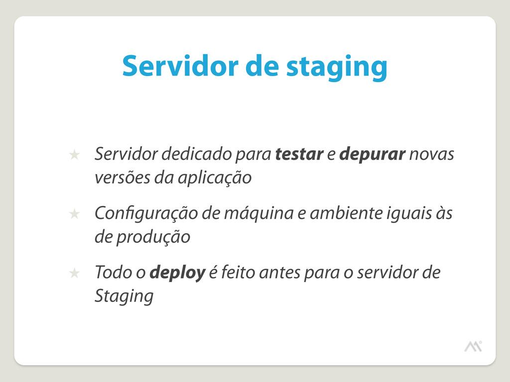 Servidor de staging ★ Servidor dedicado para te...