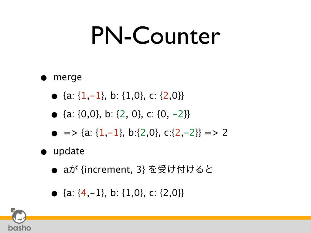PN-Counter • merge • {a: {1,-1}, b: {1,0}, c: ...