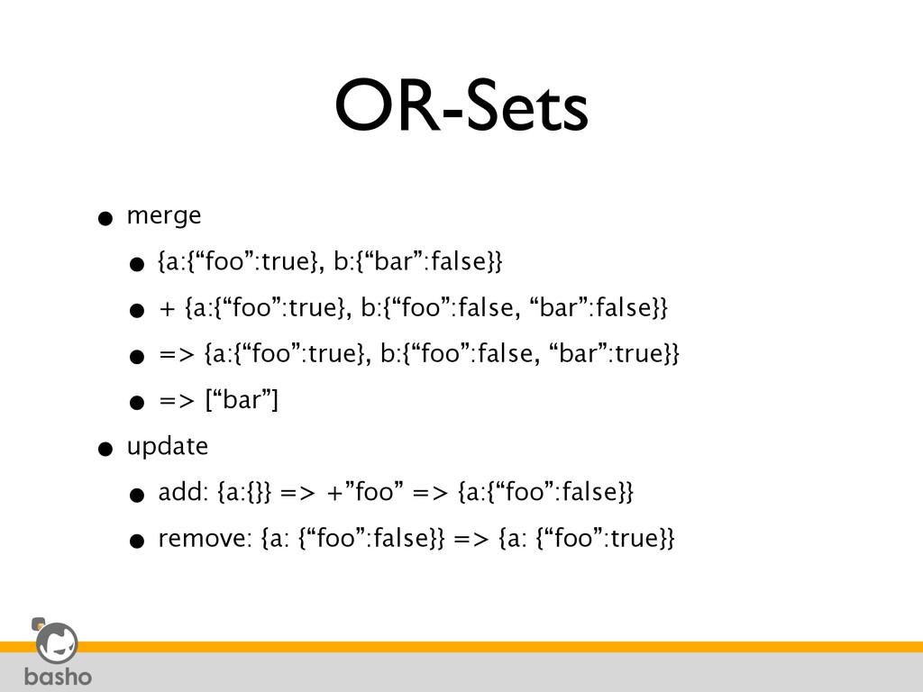 "OR-Sets • merge • {a:{""foo"":true}, b:{""bar"":fa..."