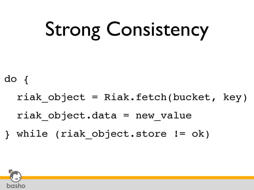 Strong Consistency do {! riak_object = Riak.fet...