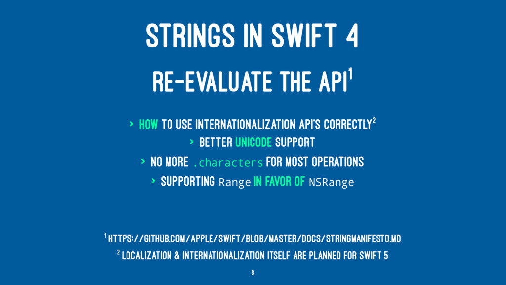 STRINGS IN SWIFT 4 RE-EVALUATE THE API1 > How t...