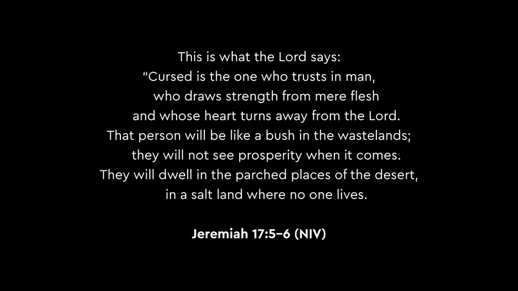 """This is what the Lord says: """"Cursed is the one ..."""