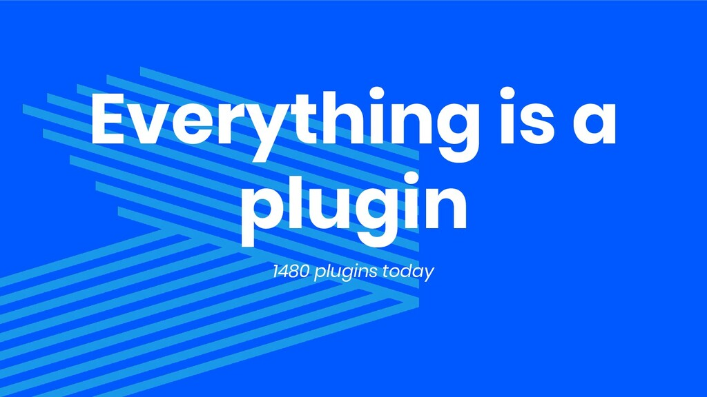Everything is a plugin 1480 plugins today