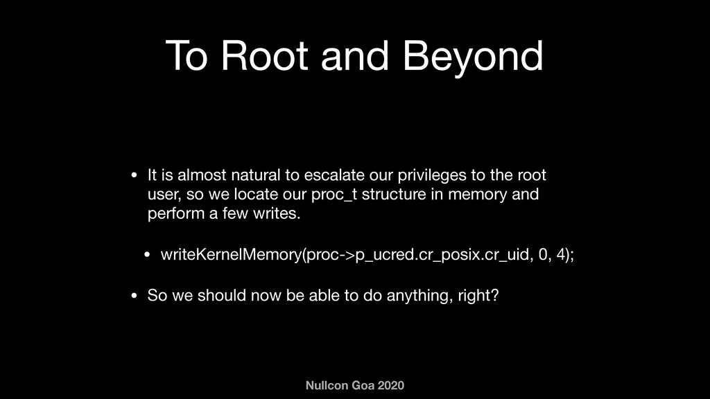 Nullcon Goa 2020 To Root and Beyond • It is alm...