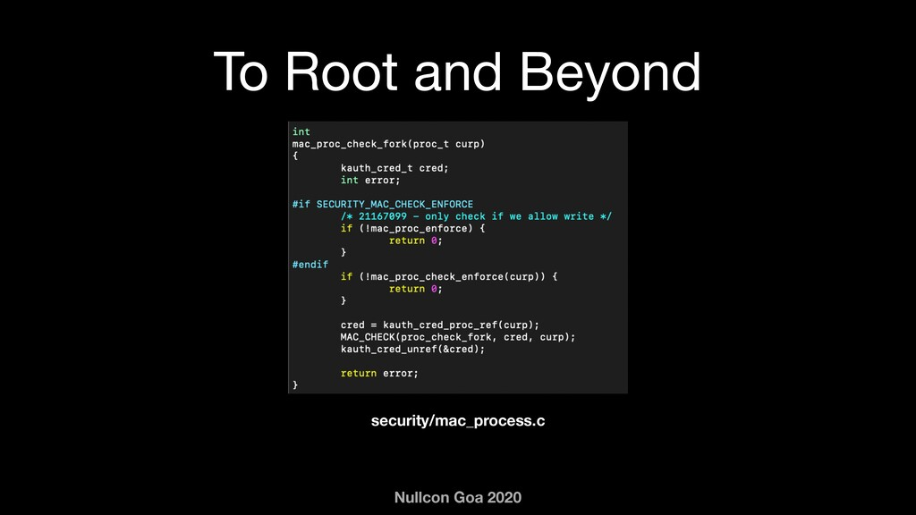 Nullcon Goa 2020 To Root and Beyond security/ma...