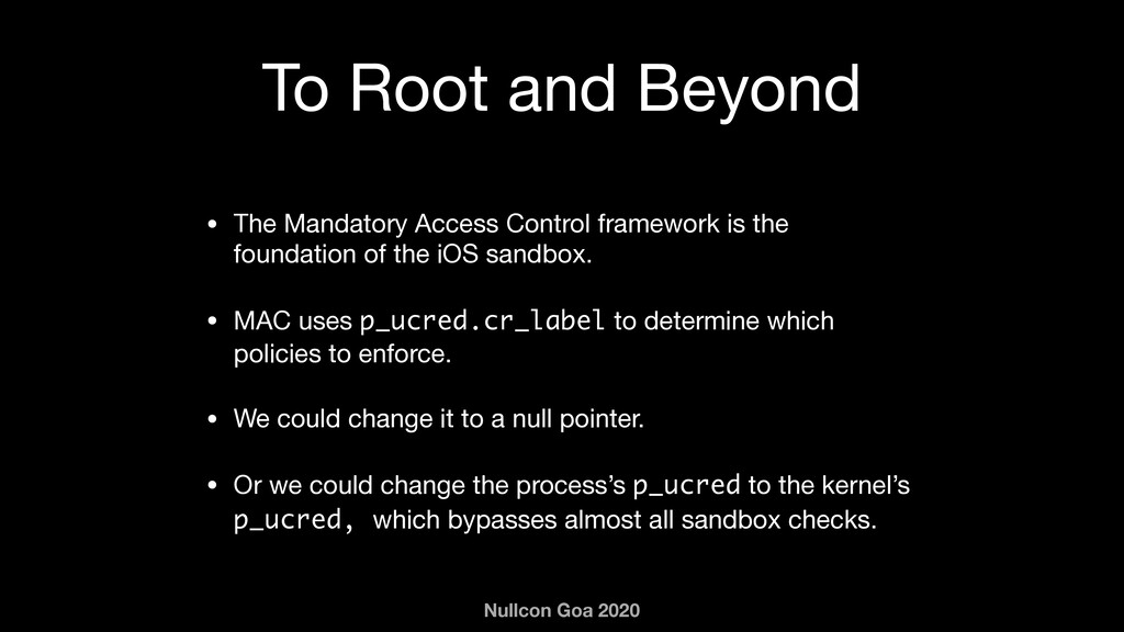 Nullcon Goa 2020 To Root and Beyond • The Manda...