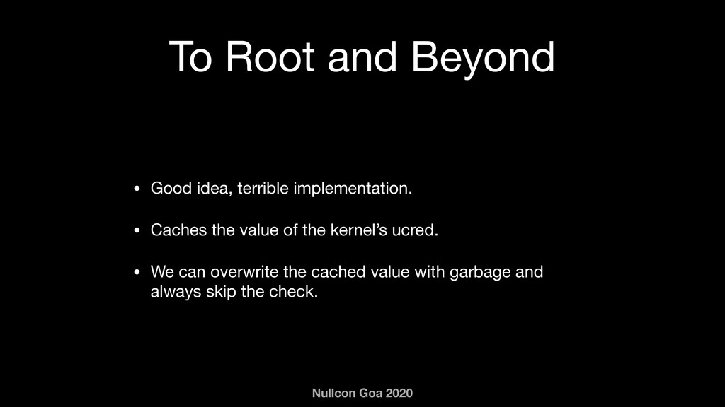 Nullcon Goa 2020 To Root and Beyond • Good idea...
