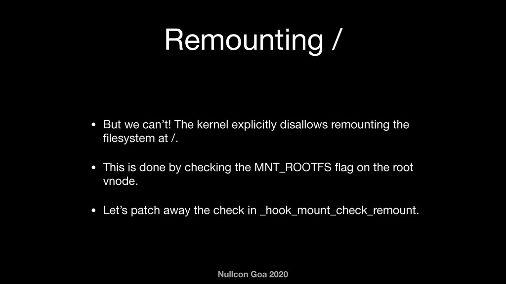 Nullcon Goa 2020 Remounting / • But we can't! T...