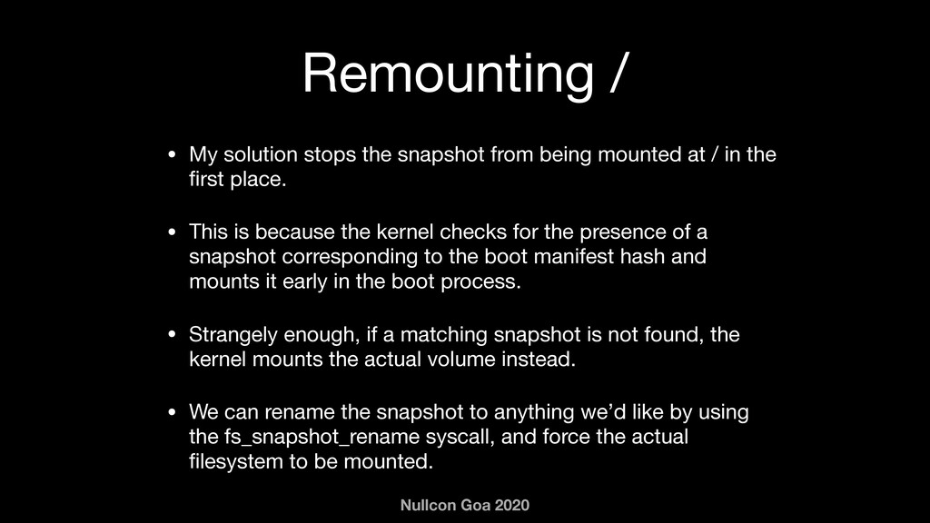 Nullcon Goa 2020 Remounting / • My solution sto...
