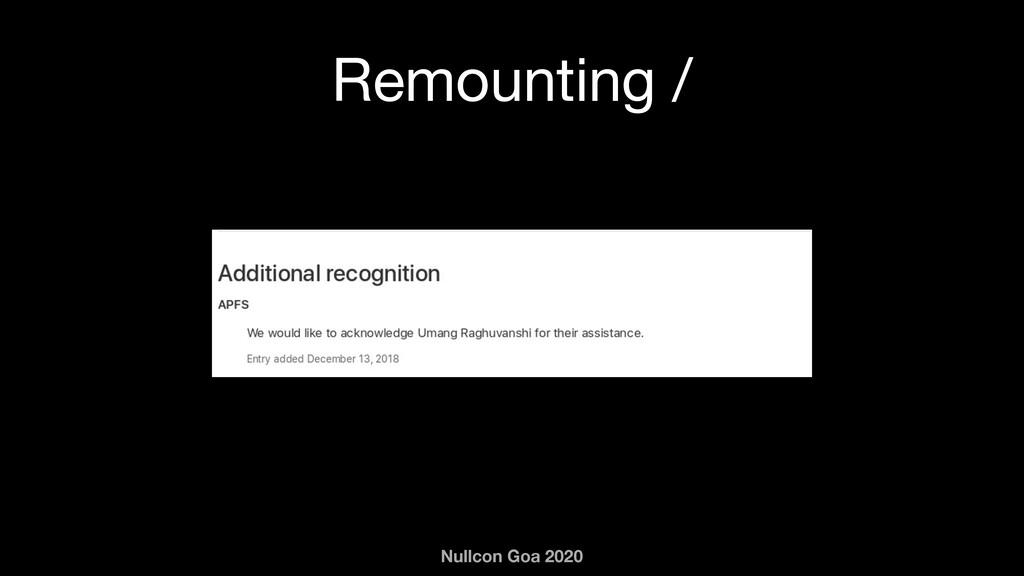 Nullcon Goa 2020 Remounting /
