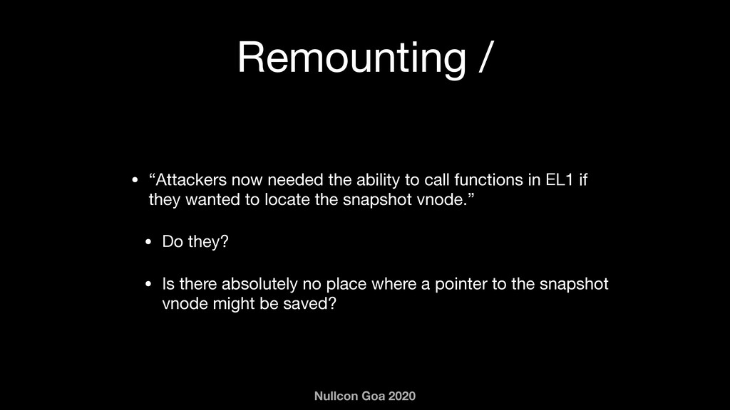 "Nullcon Goa 2020 Remounting / • ""Attackers now ..."