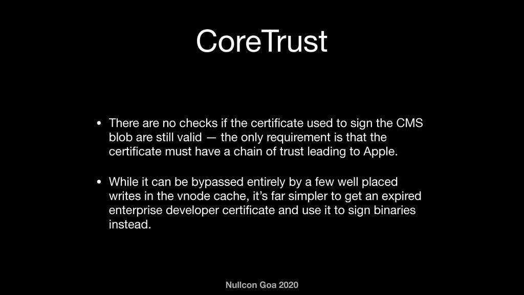 Nullcon Goa 2020 CoreTrust • There are no check...