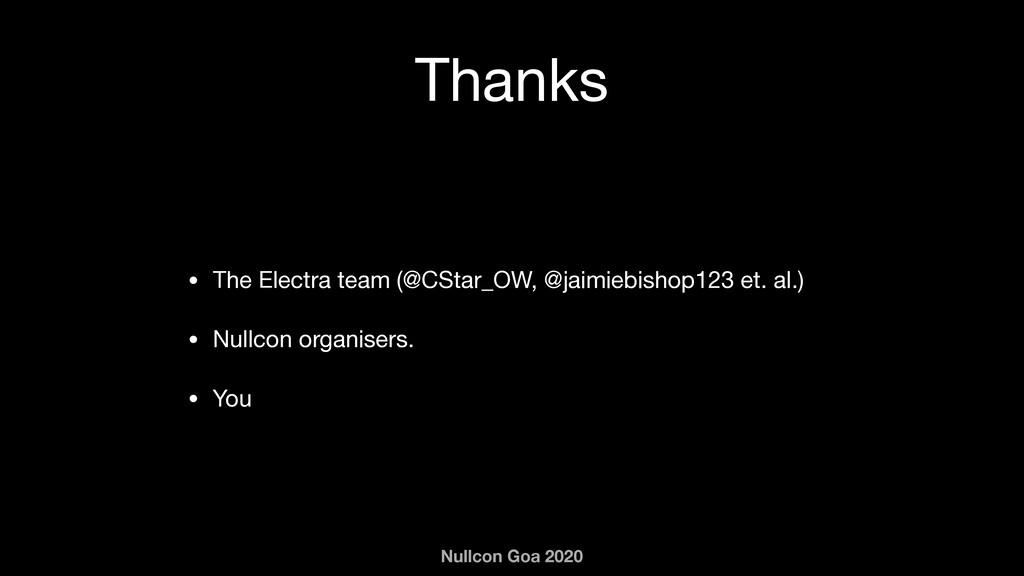 Nullcon Goa 2020 Thanks • The Electra team (@CS...
