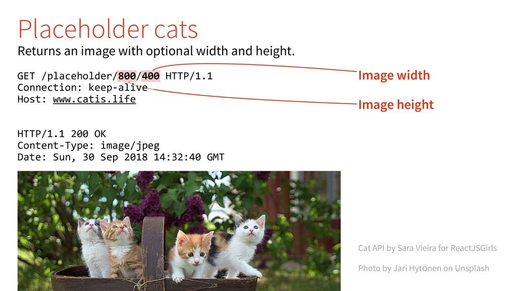 Image width Image height Cat API by Sara Vieira...
