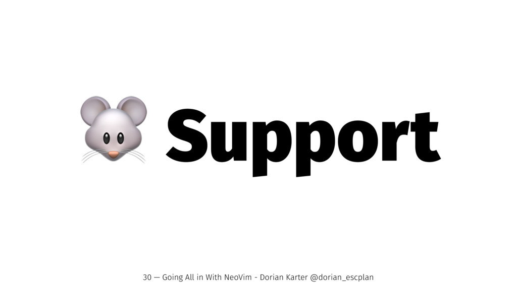 ! Support 30 — Going All in With NeoVim - Doria...
