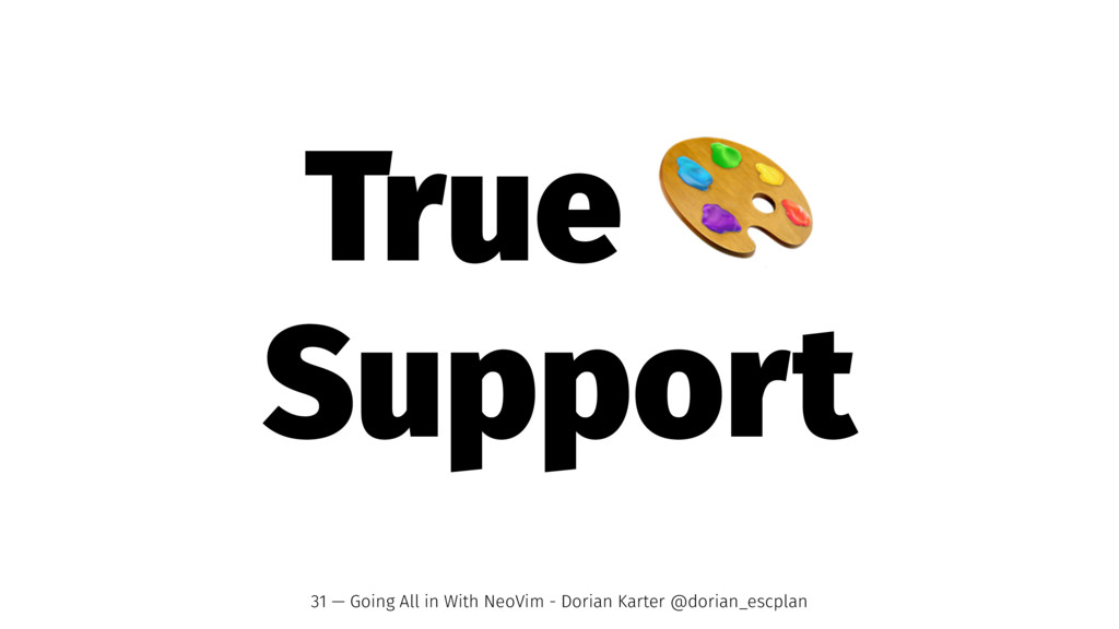 True Support 31 — Going All in With NeoVim - Do...