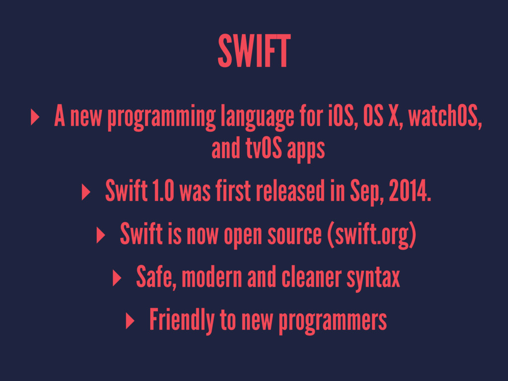 SWIFT ▸ A new programming language for iOS, OS ...