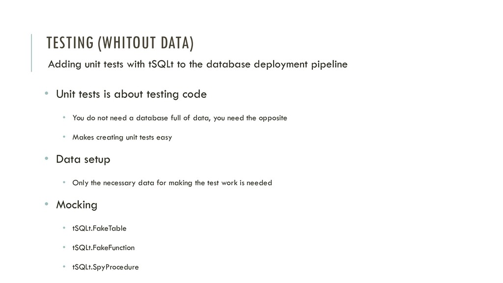 TESTING (WHITOUT DATA) Adding unit tests with t...