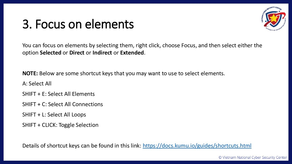 3. Focus on elements You can focus on elements ...