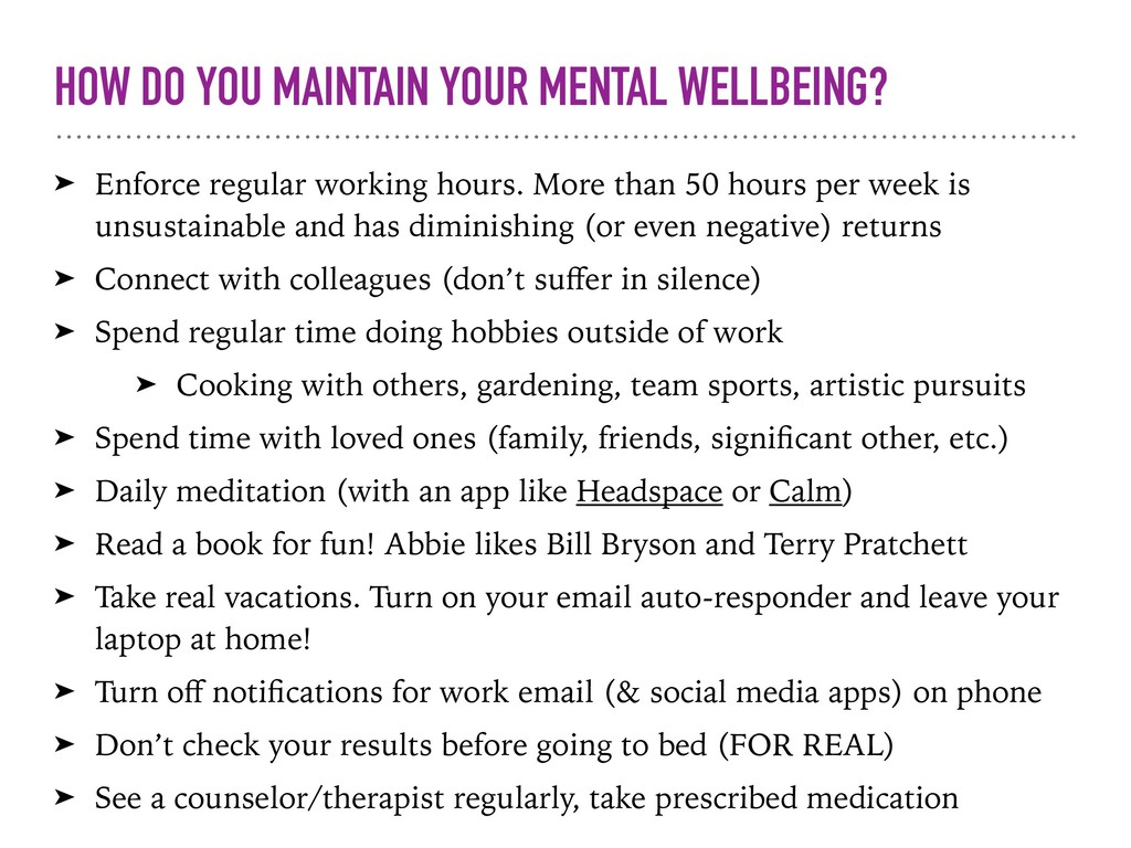 HOW DO YOU MAINTAIN YOUR MENTAL WELLBEING? ➤ En...