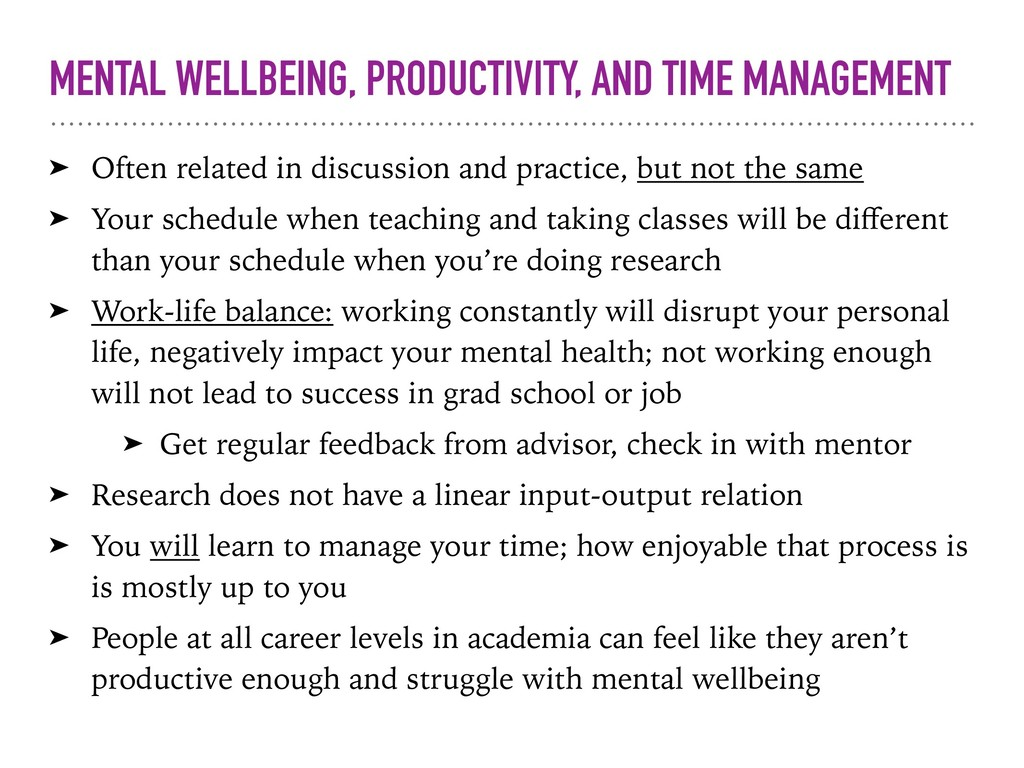 MENTAL WELLBEING, PRODUCTIVITY, AND TIME MANAGE...