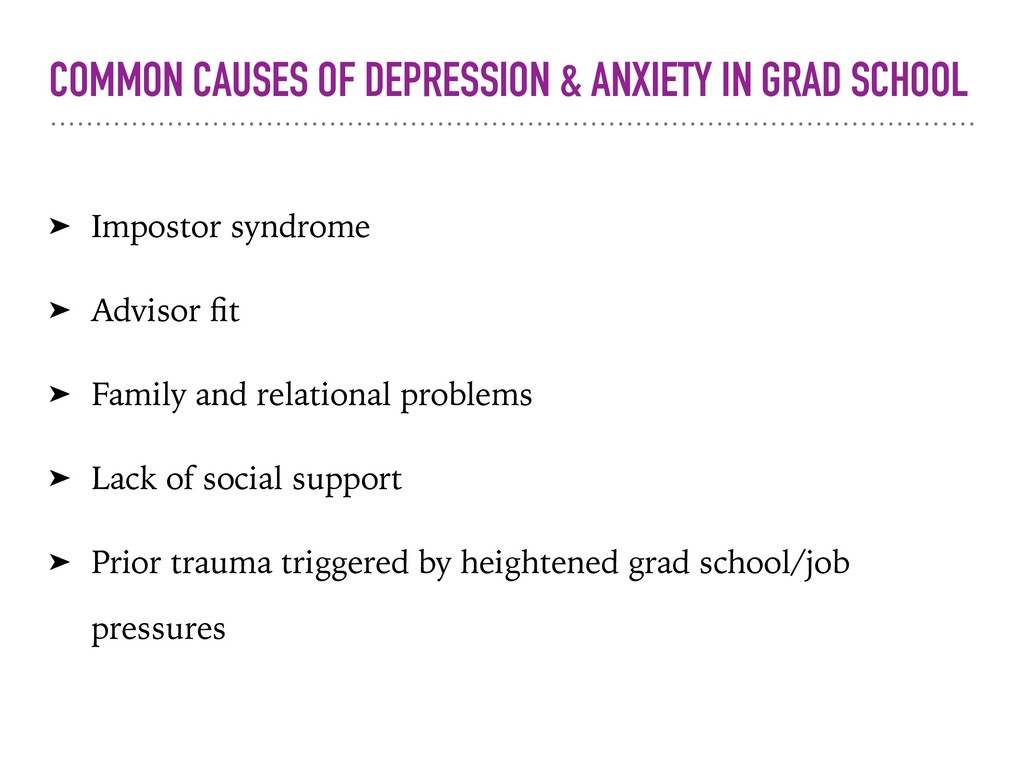 COMMON CAUSES OF DEPRESSION & ANXIETY IN GRAD S...