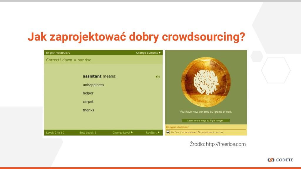 Jak zaprojektować dobry crowdsourcing?