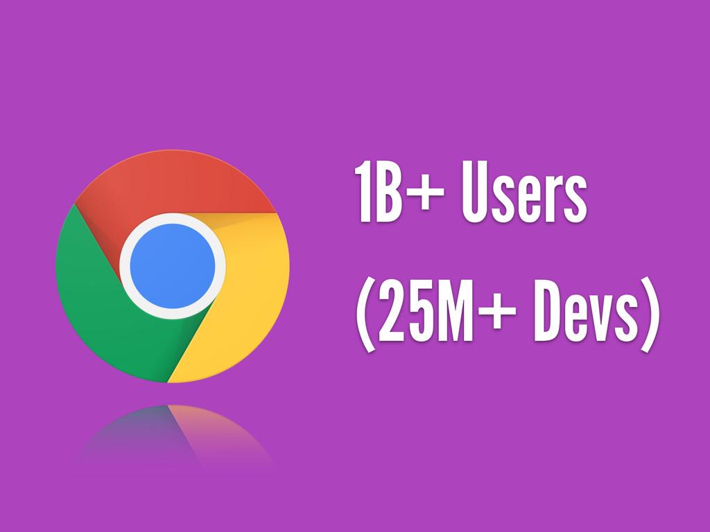 1B+ Users (25M+ Devs)