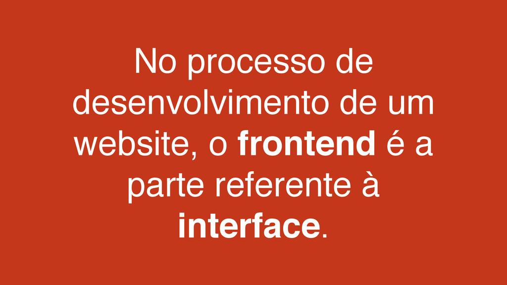 No processo de desenvolvimento de um website, o...