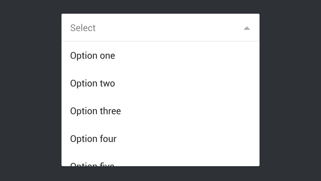 Select Option five Option four Option three Opti...
