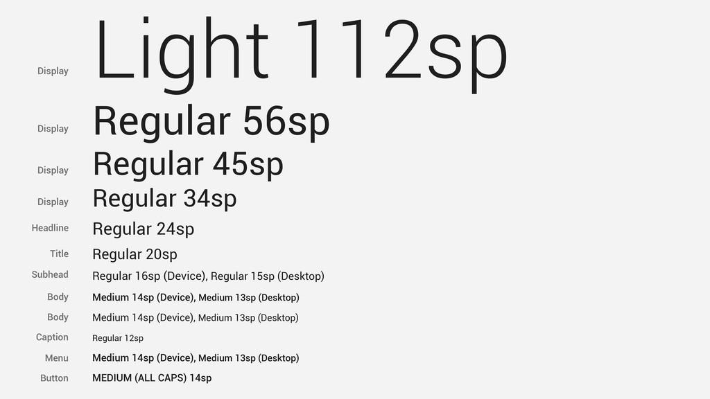 Light 112sp Regular 56sp Regular 45sp Regular 3...