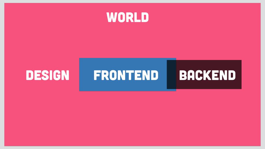 design frontend backend WORLD