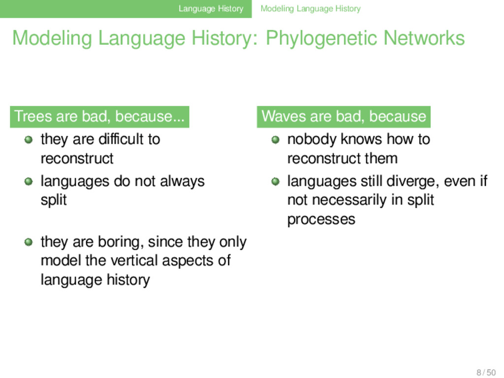 Language History Modeling Language History Mode...