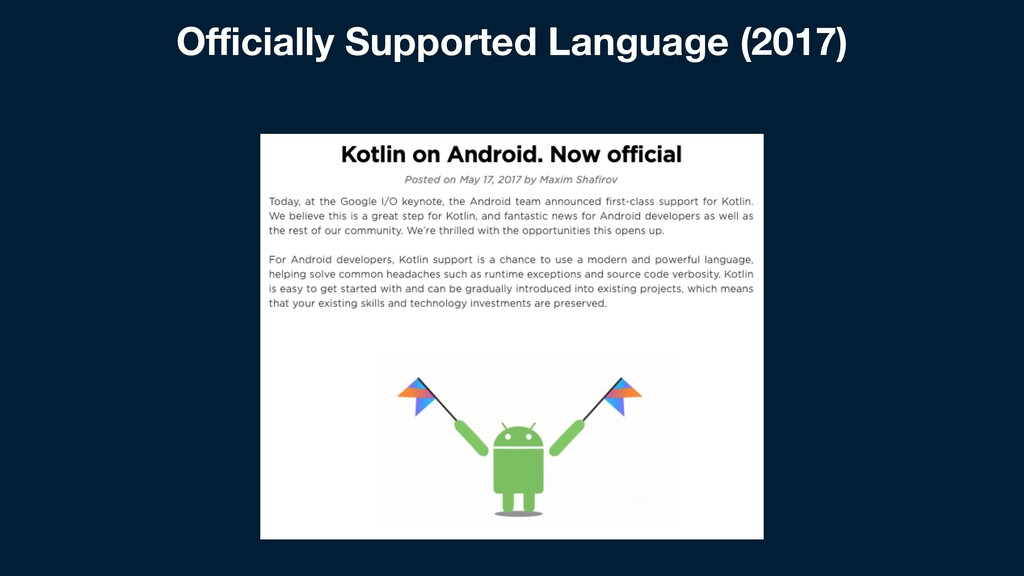 Officially Supported Language (2017)