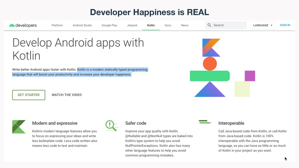 Developer Happiness is REAL