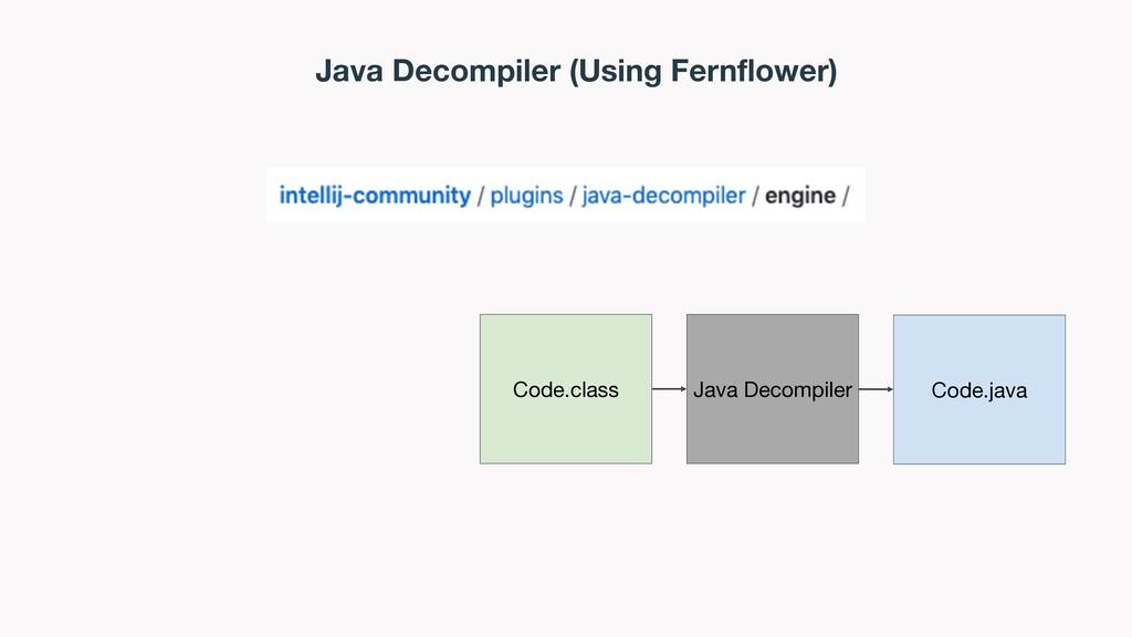 Java Decompiler (Using Fernflower) Code.class J...