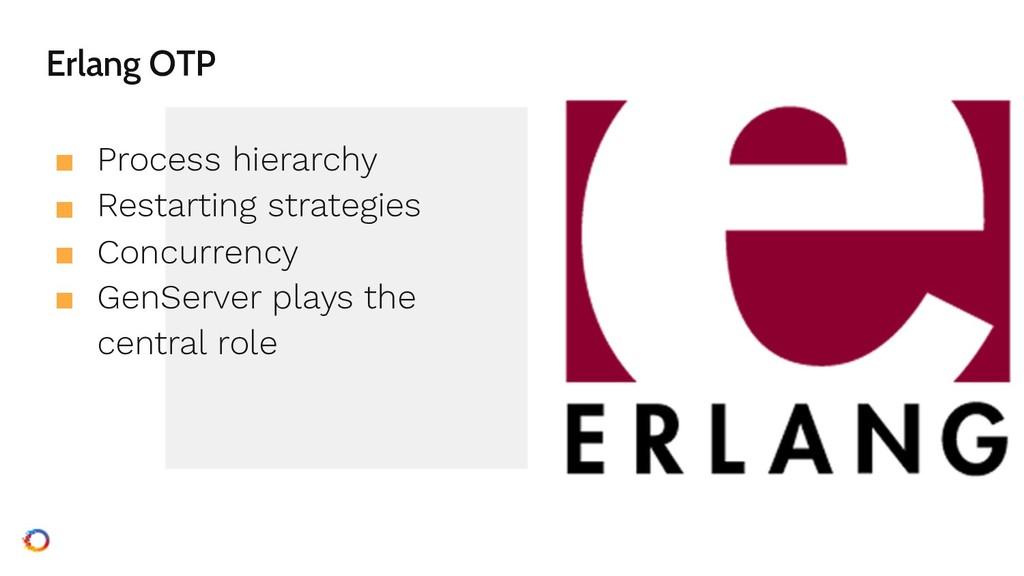 Erlang OTP ■ Process hierarchy ■ Restarting str...